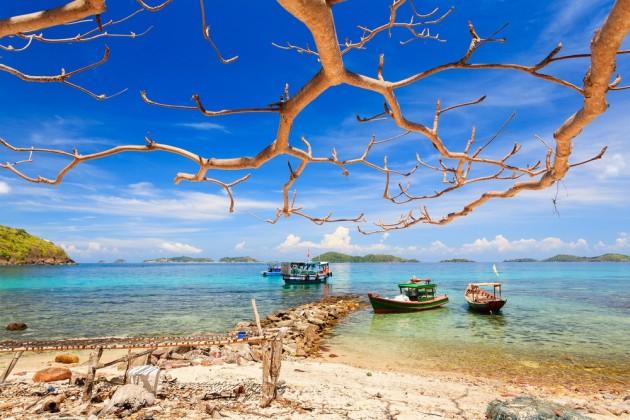 Wild and Peaceful scene of Nam Du Islands in July