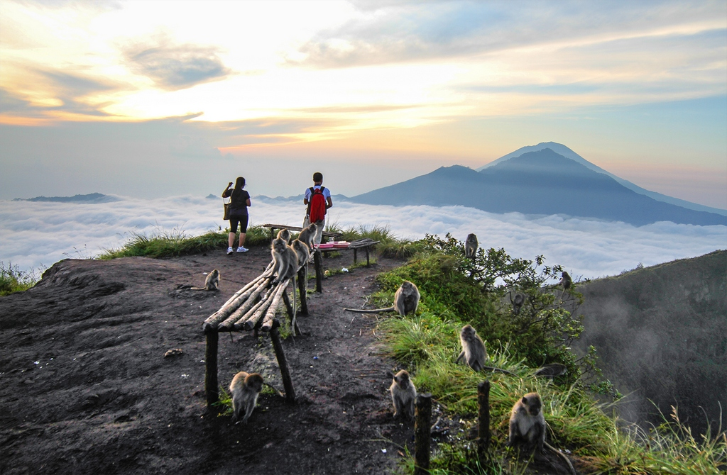 active volcano trekking at sunrise