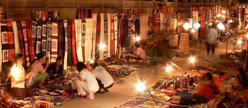 Luang Prabang Night Market. Photo: Indochina Experience