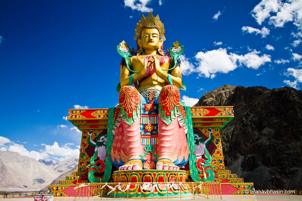 Buddha statue in Thiksey monastery. Source: the Internet.