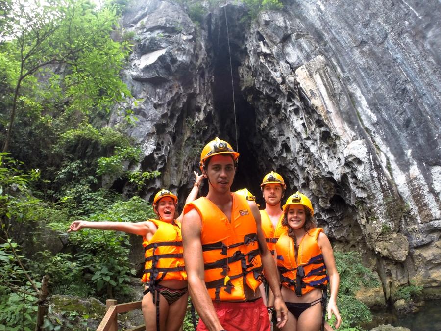 Exploring caves in Phong Nha