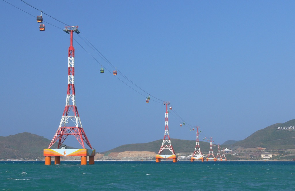 Cable car of Nha Trang. Photo: vinpearlland.com