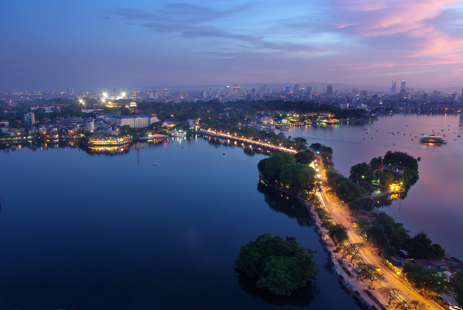 West Lake view from above