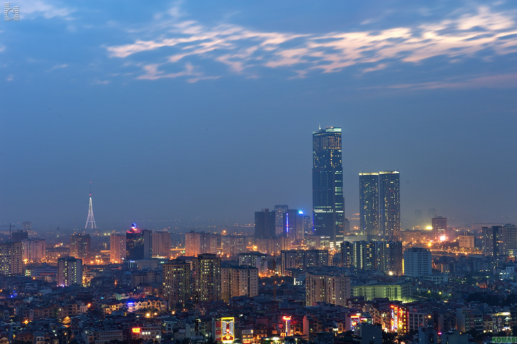Hanoi Skyline City. Image flickr