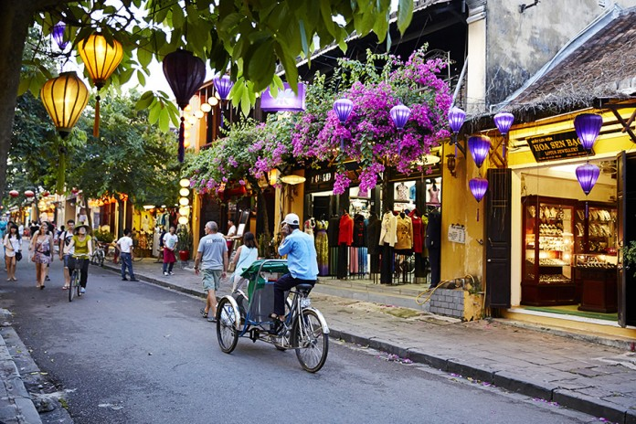 Cyclo in Hoi An Old Town