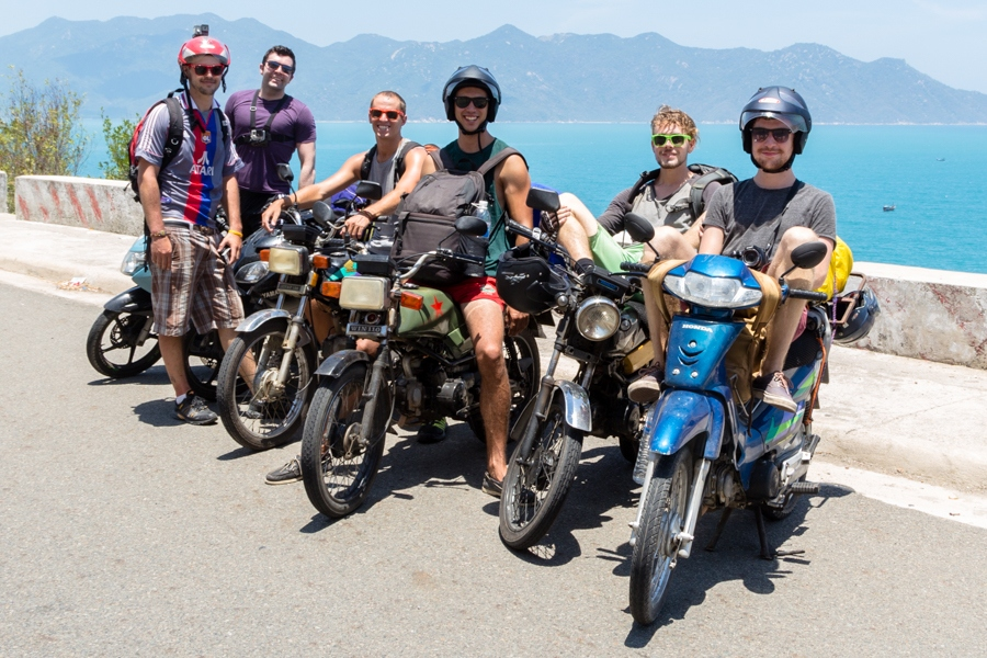 Welcome to the full gang… so we met a few other riders in Da Lat, so then we became 6 Alex, John, Dan, Myself, Sol & Adam
