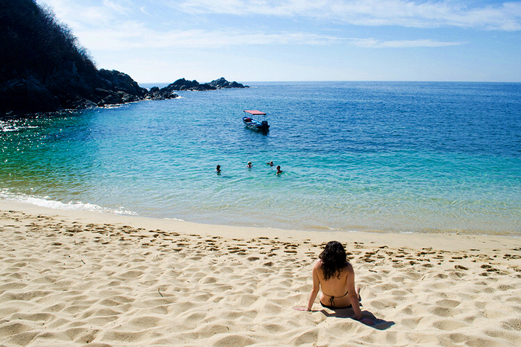 The serene and picture perfect beaches of Zipolite at Bahia de Luna.
