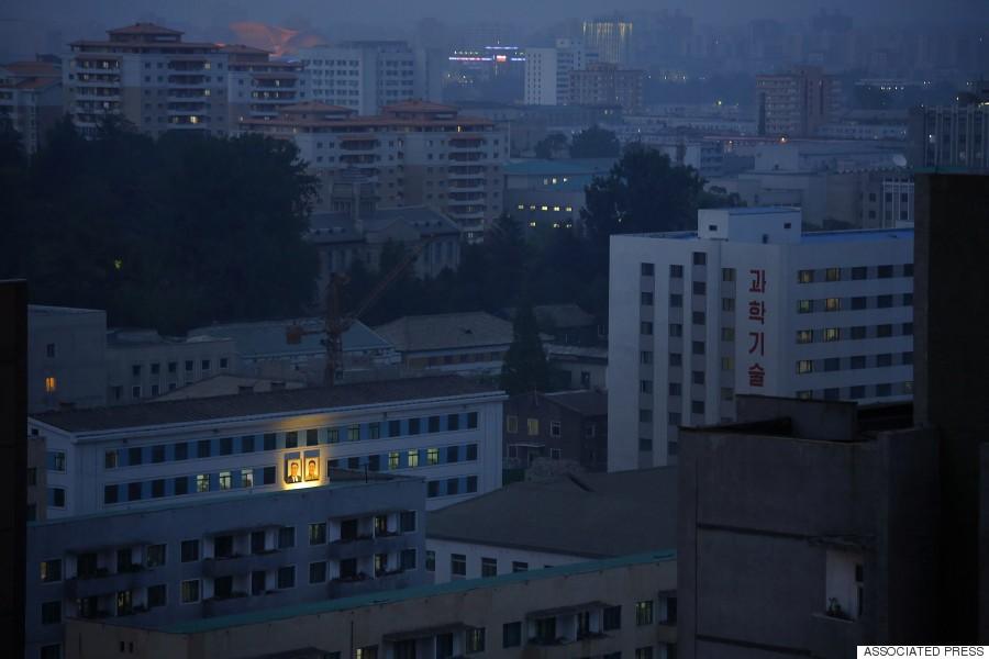 residental by night pyong yang