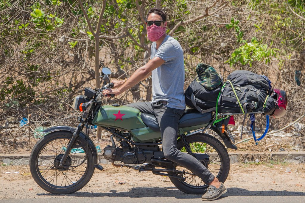 Motorbike Vietnam – Day 1, loaded up with my new bike.