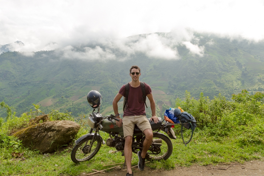 This photo was taken in Sapa, about a week before I sold my bike