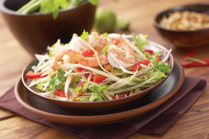 tam mak hoong green papaya salad laofood