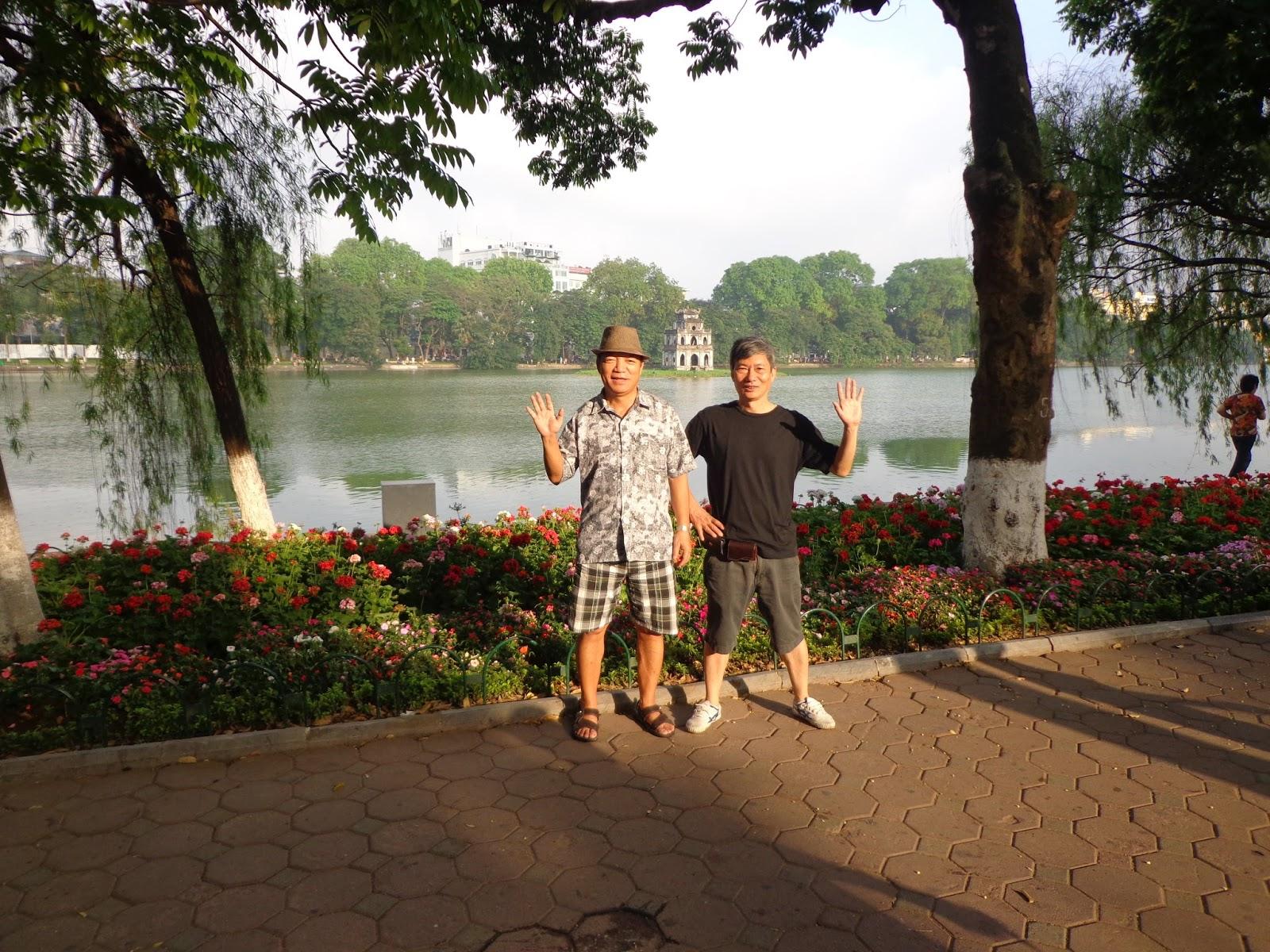 walking around hoan kiem lake sword lake hanoi vietnam 2