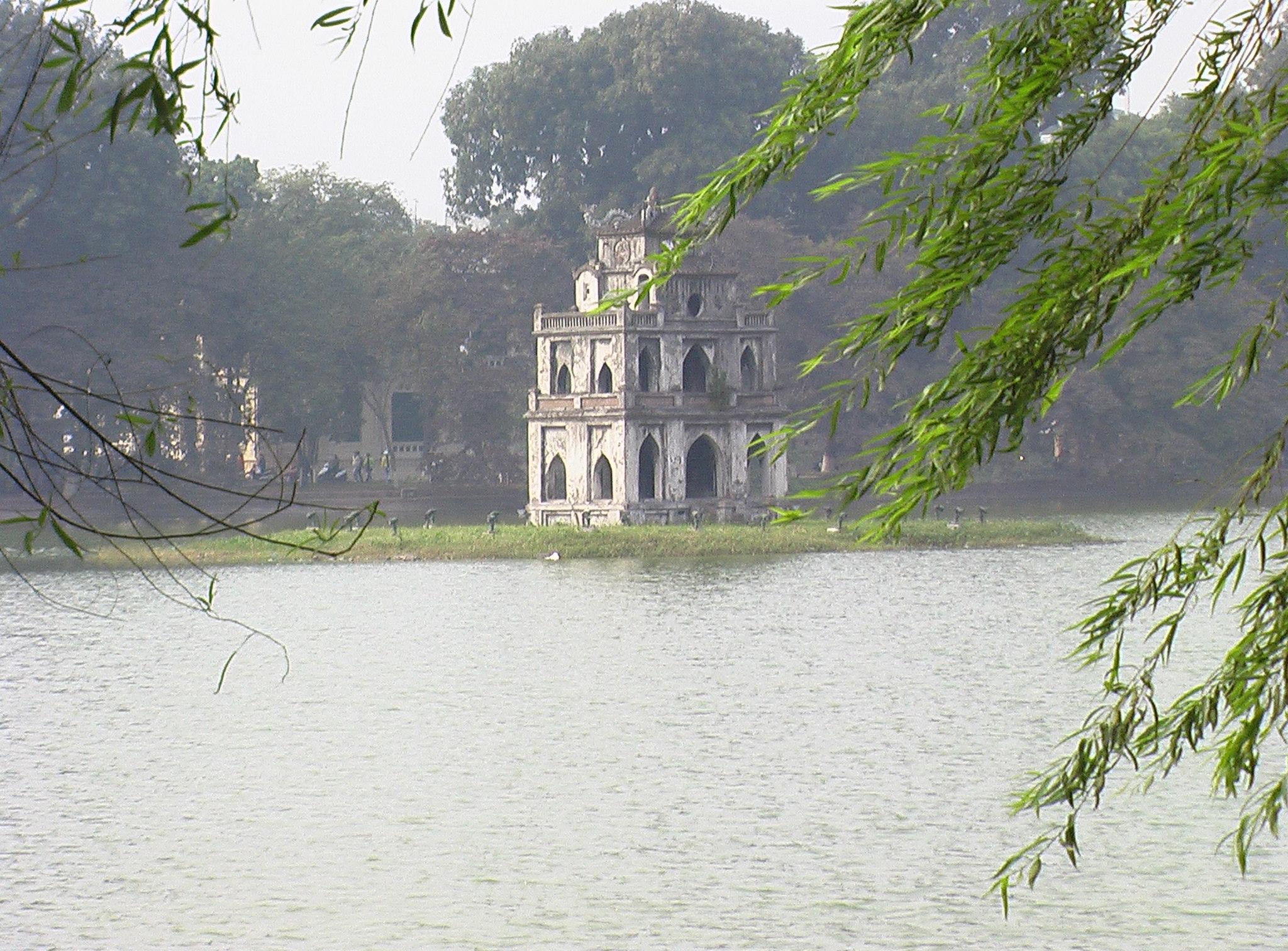 walking around hoan kiem lake sword lake hanoi vietnam 4