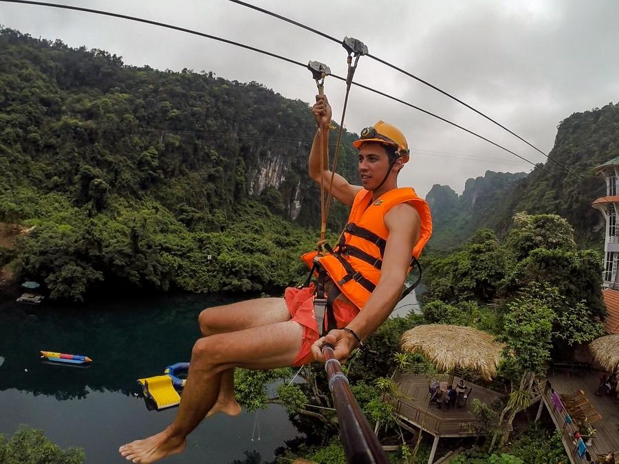 Zip Line in Phong Nha