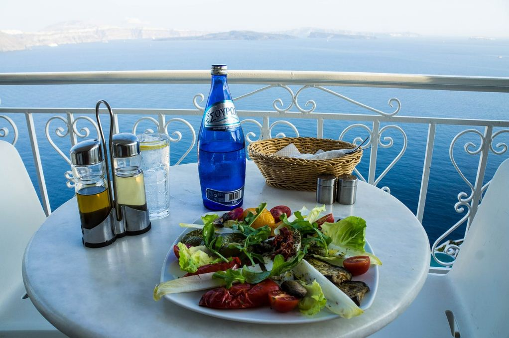 santorini greece food Photo by: best honeymoon destinations in Europe blog.