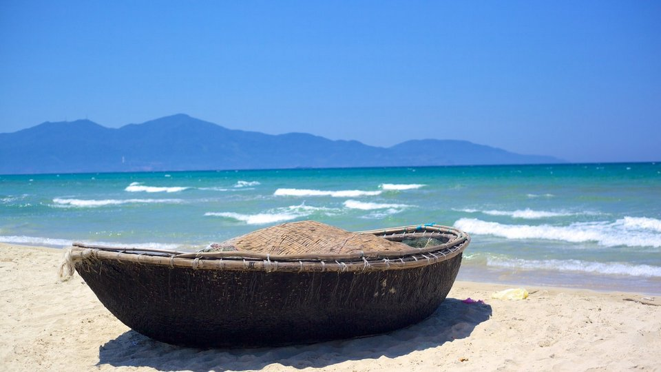 Non Nuoc Beach featuring boating and a sandy beach