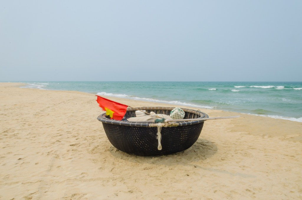 You will see these traditional boats on almost every beach in Da Nang