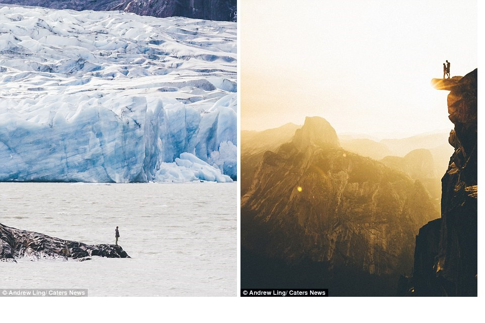16 stunning photos of epic landscapes with one solitary person gazing at the view 8