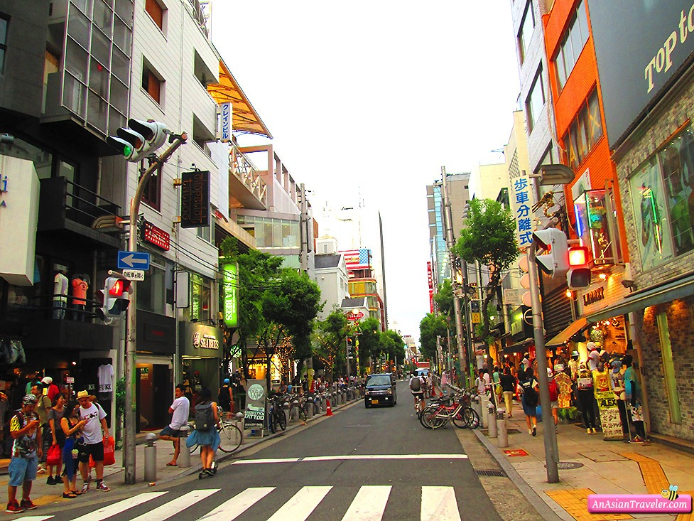 The shopping district of Amerikamura in Osaka Photo: blogspot