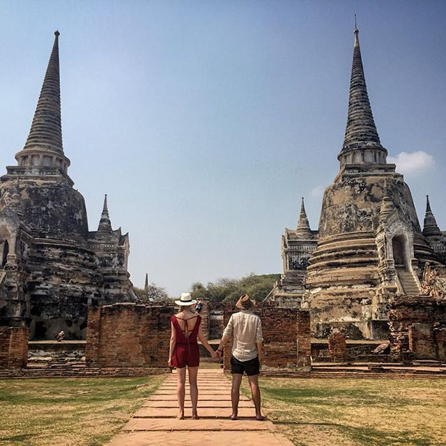 Ayutthaya thailand trip travel guide couple where to go tourist attraction photo