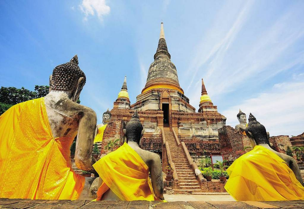 buddha old temples tourist attractions ayutthaya