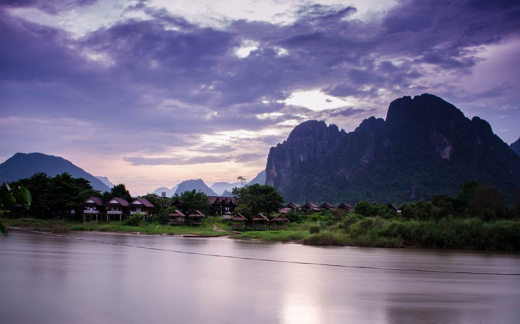 Beautiful Nam Song River Vang Vieng - bokehmian.com