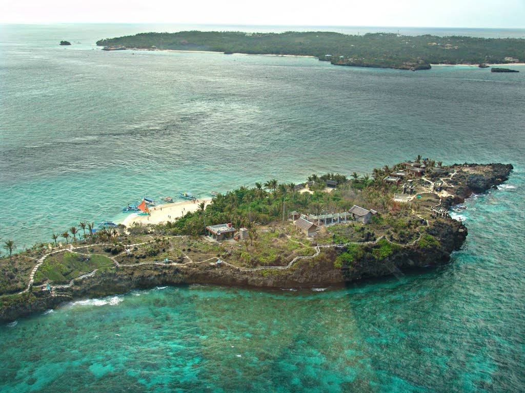 Crocodile island view from above. Photo: Arj Munoz