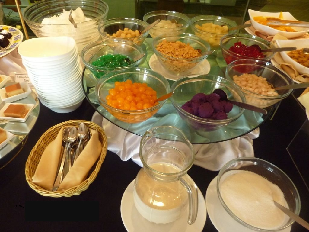 Halo - Halo buffet - you can choose your favourite ingredients to make your own halo halo Photo: silkenhut