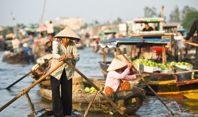 Cai Rang floating market in Can Tho. Photo: kenhdulich.org