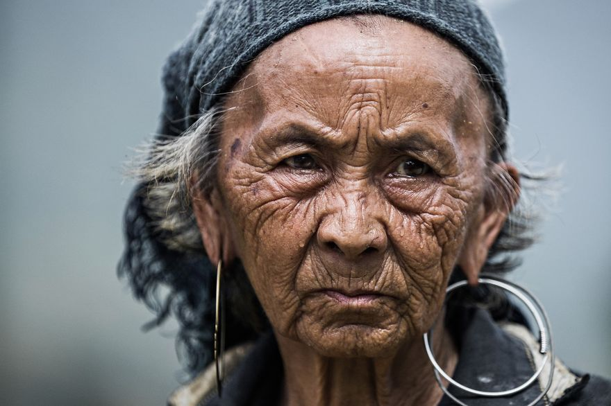 Elder Hmong Woman Of Sapa eyes