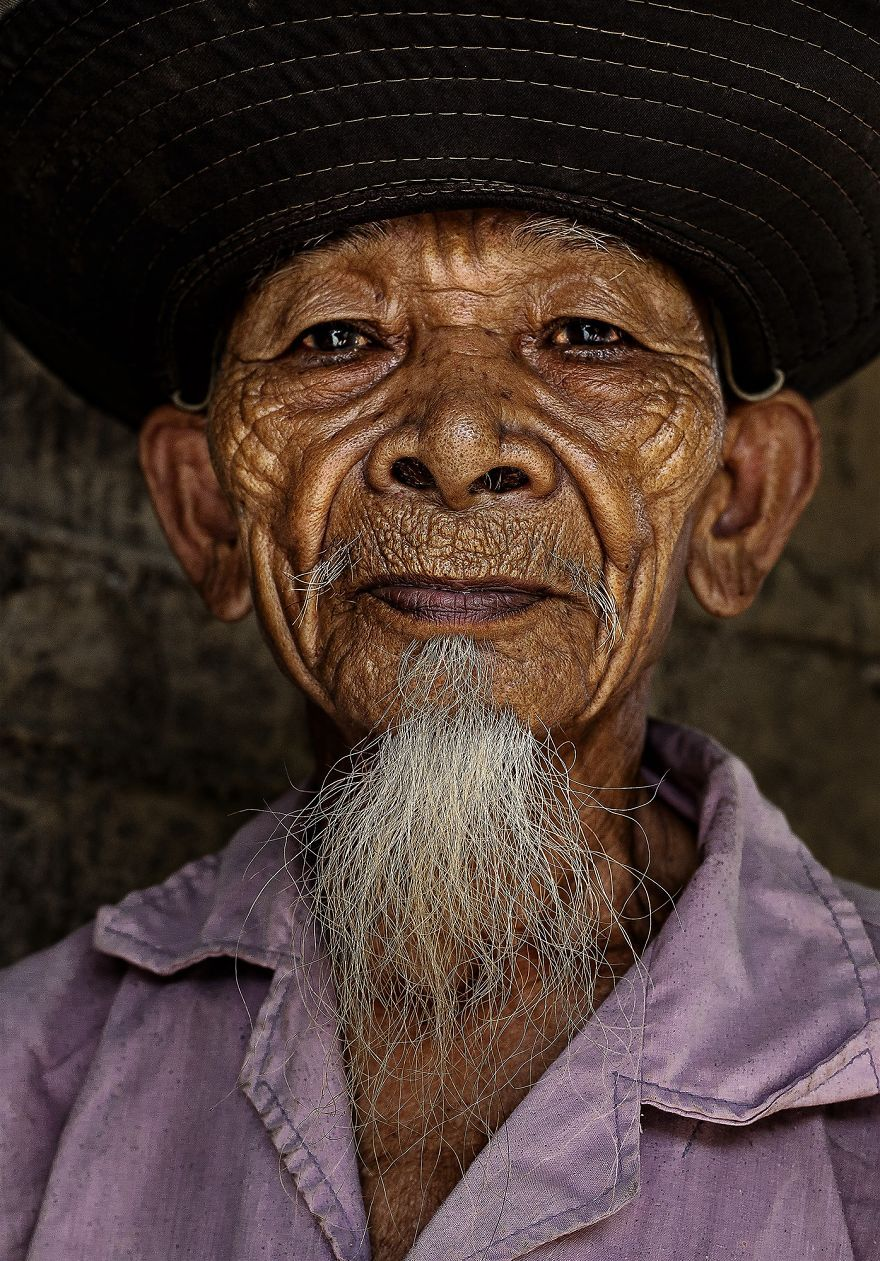 Elder Man From Hre Ethnic Group