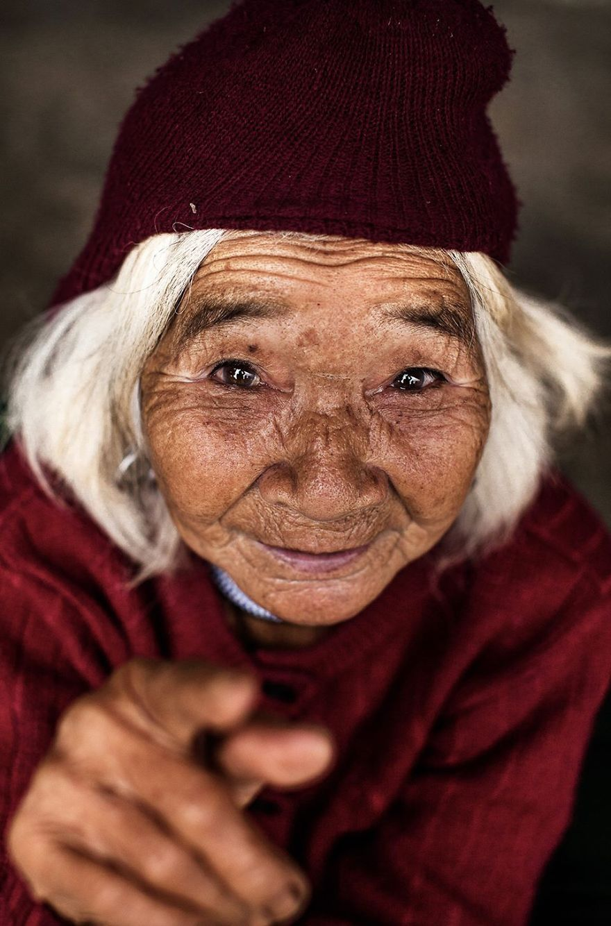 Elder Woman From Co Tu Ethnic Group