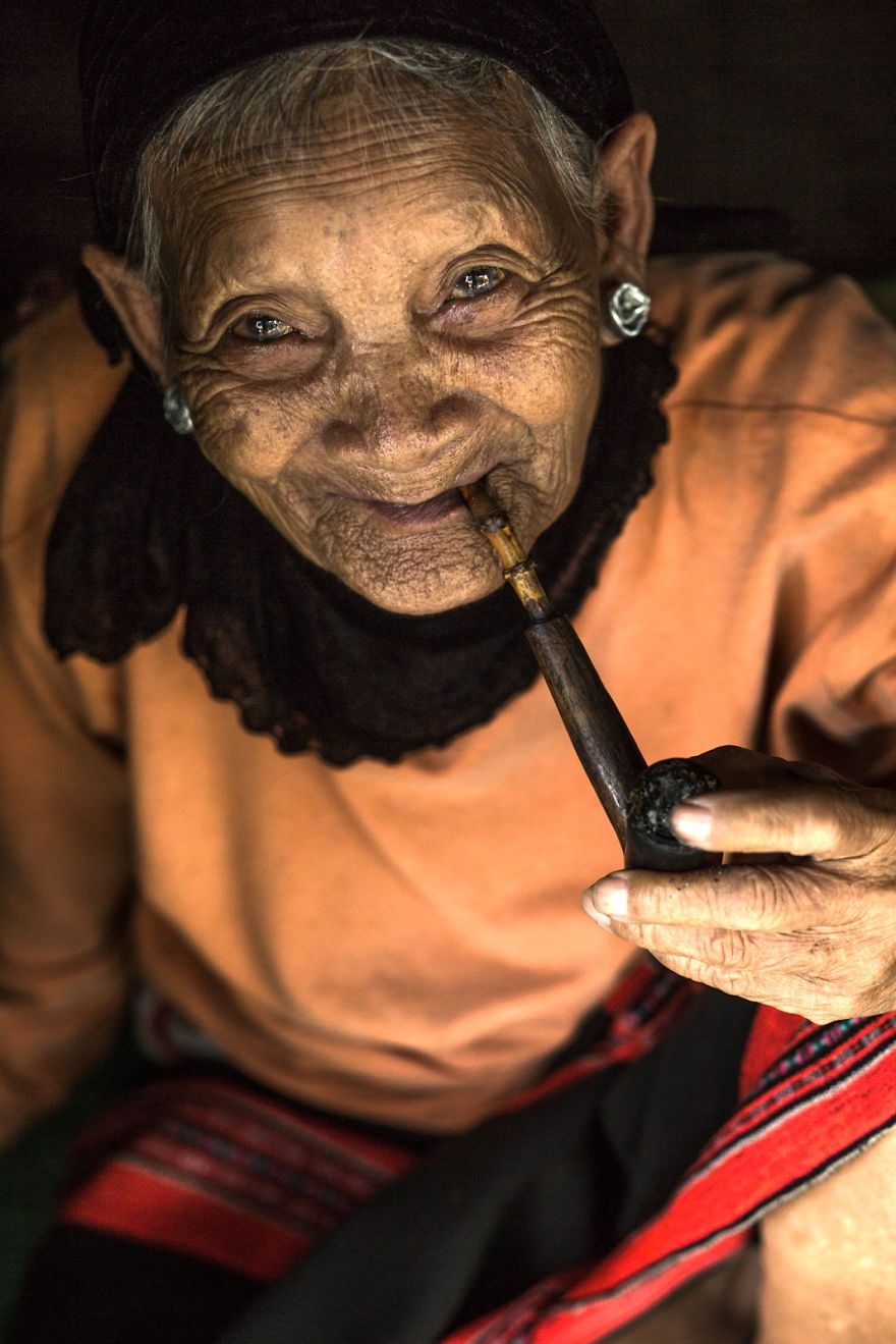 Elder Woman From Pa Ko Ethnic Group
