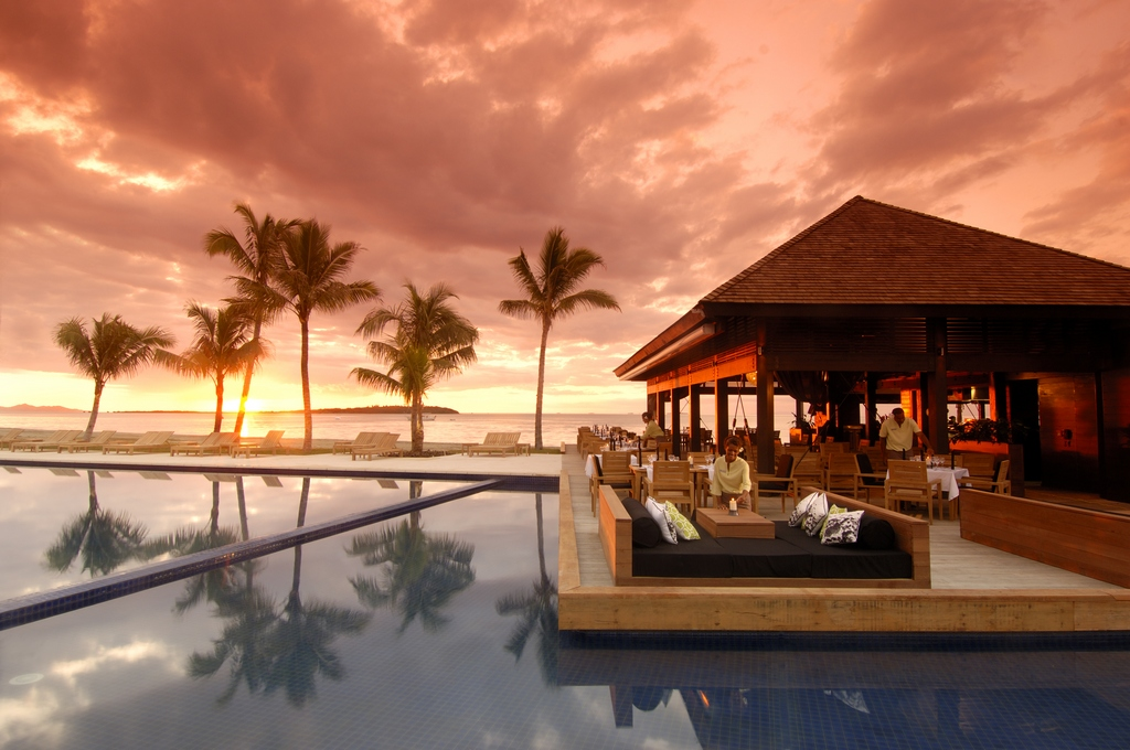 Beautiful sunset in Fiji Photo: hiltonfijibeachresort