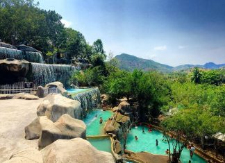 First hot mineral water park in Vietnam