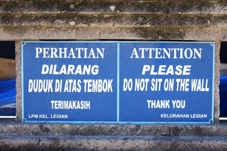 Follow Bali's rules, as strange as they may sometimes seem.