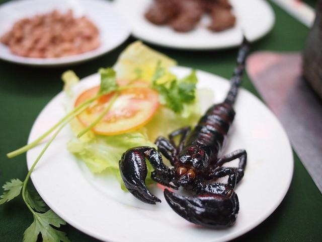 A dish of fried scorpion Photo: zing news