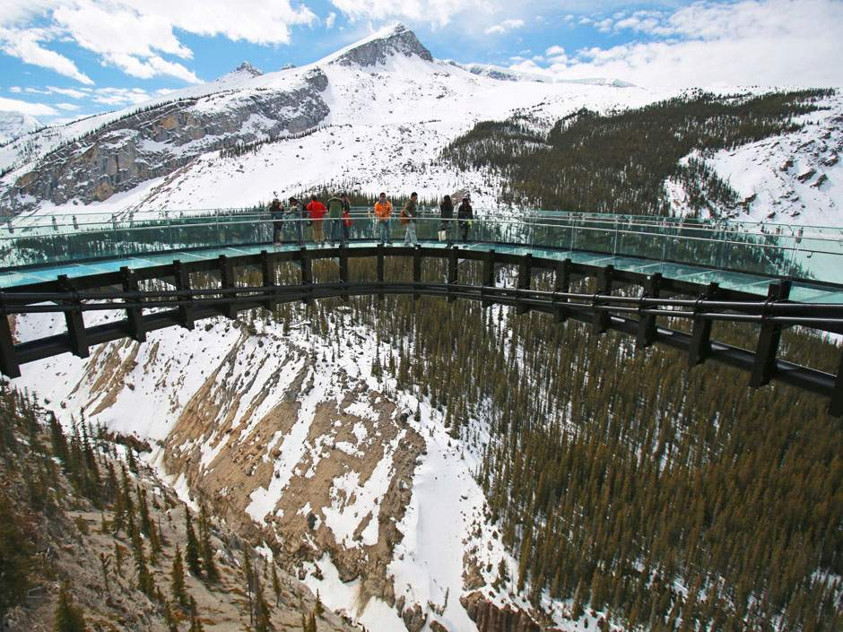 Don't forget the Glacier Skywalk once you visit Columbia.
