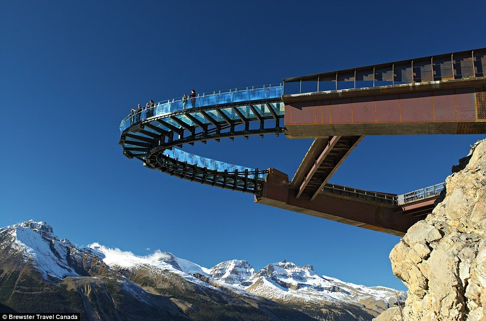 Glacier Skywalk is very famous at Columbia, Canada. It is well-known as a interesting destination.