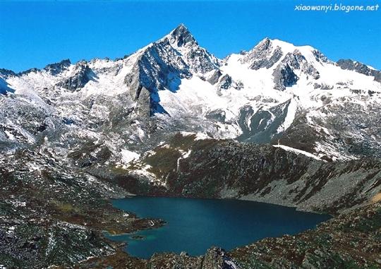 Heart-Shaped Lake,Tibet - httpworldtoptop.com