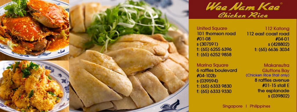 Information of Wee Nam Kee Hainanese chicken rice restaurant_Singapore food_Source Wee Nam Kee restarant's facebook