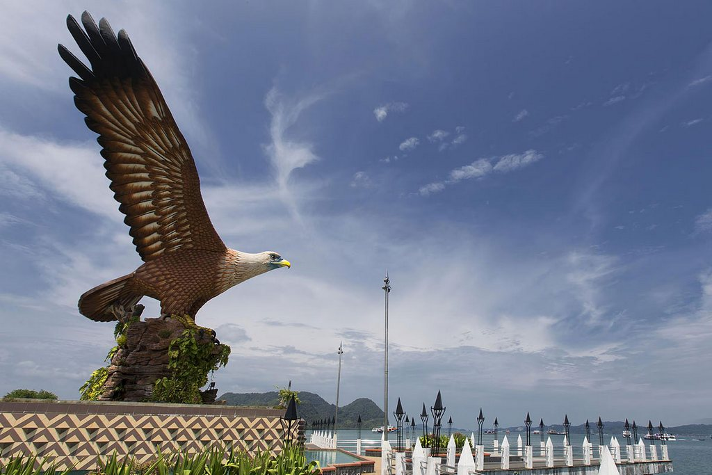 Eagles are considered the symbol of Langkawi. In the past days, the land was a home to countless eagles. Photo: Langkawiinfo