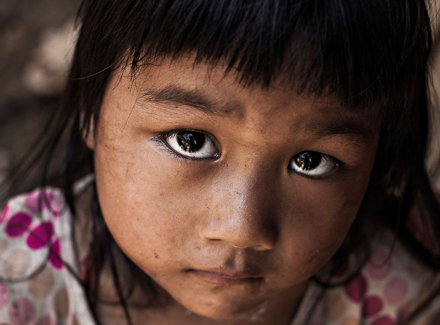Little Girl Met On The Road In North Of Vietnam eyes