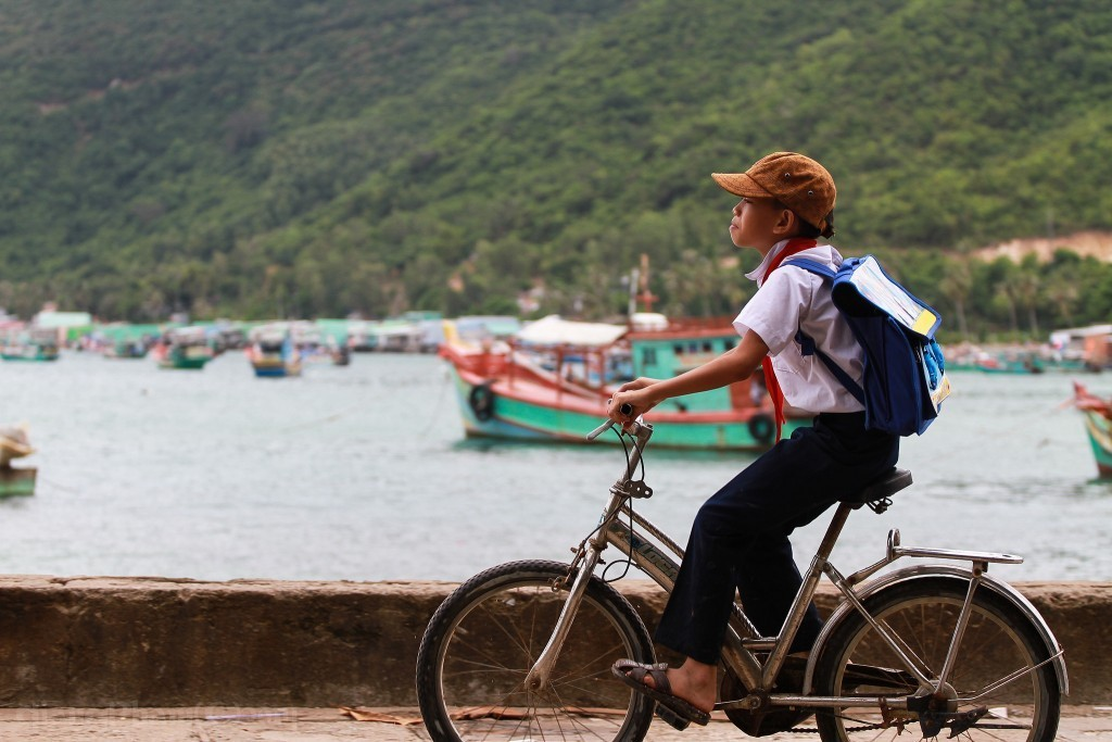 Locals on Nam Du are friendly and enthusiastic