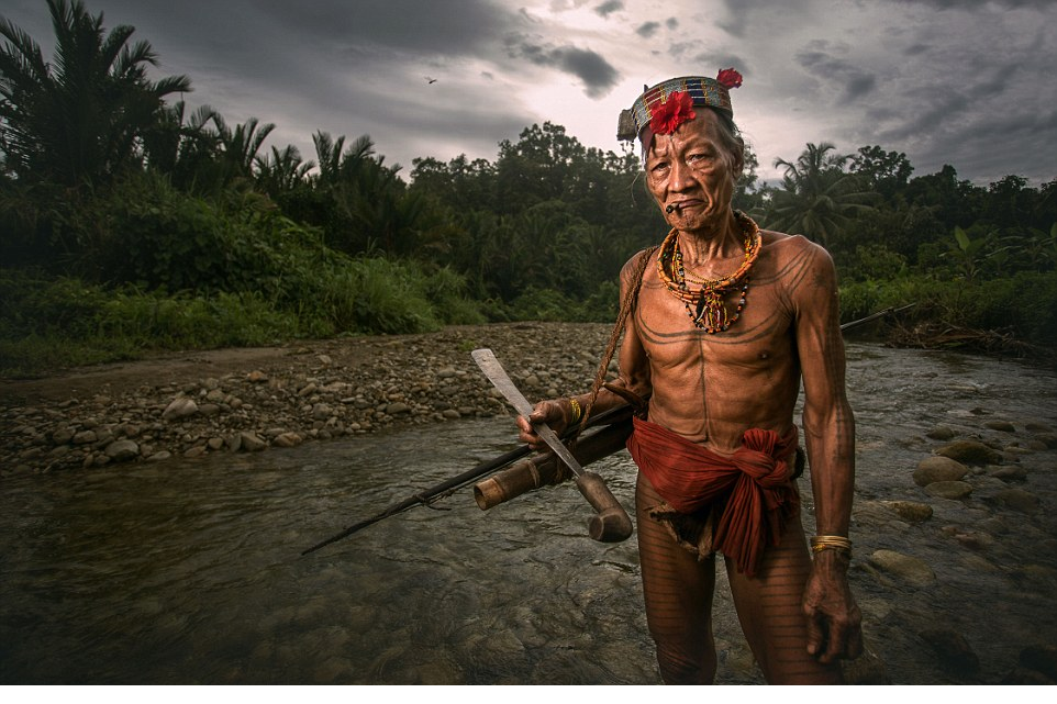 Making their mark The Mentawai people are famous for their decorative tattoo, seen here on an elderly warrior