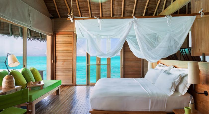 You can have a panoramic view to the ocean from your hotel room! What a luxury! Photo: Six Senses Laamu