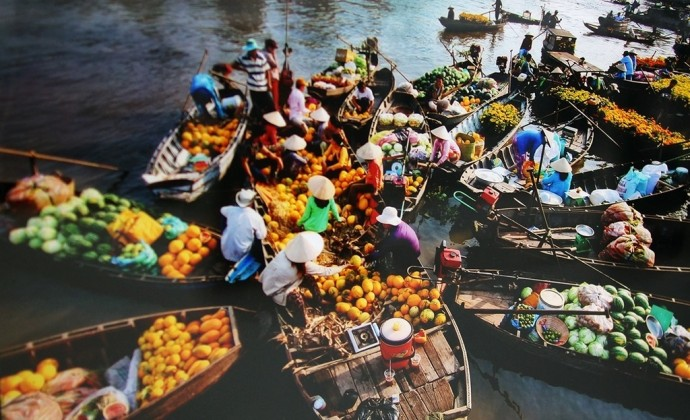 Cai Rang floating market in Can Tho. Photo: canthotourist.vn