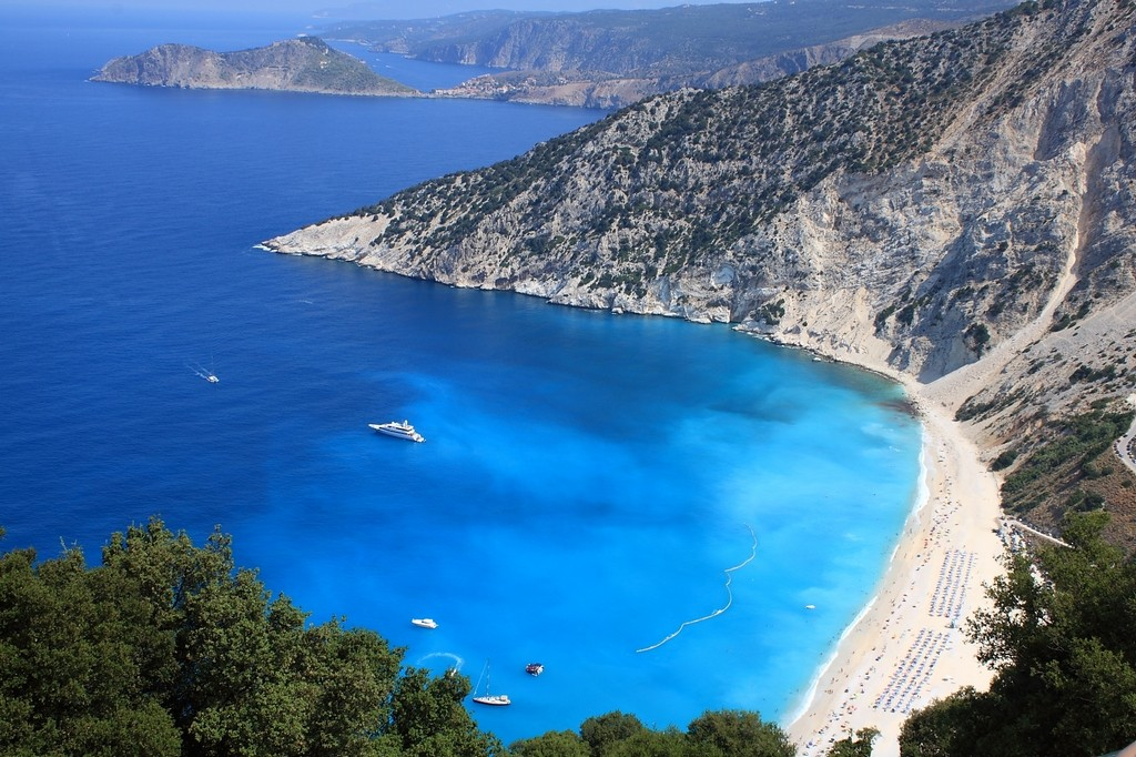 Myrtos Beach_Greece Beaches_Source www.worldfortravel.com