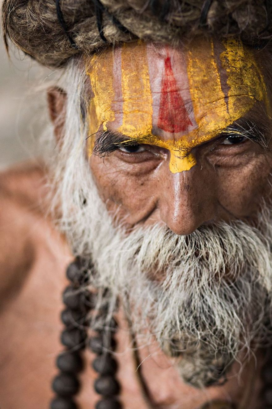 Sadhu Of Varanasi eyes are windows of the souls