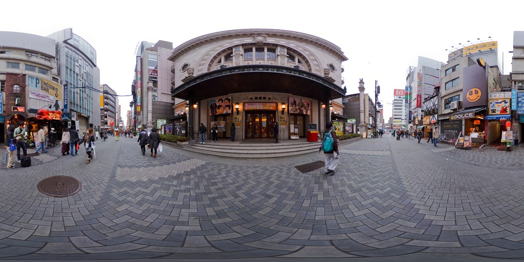 The front of Shochikuza Theater in Osaka Photo: staticflickr